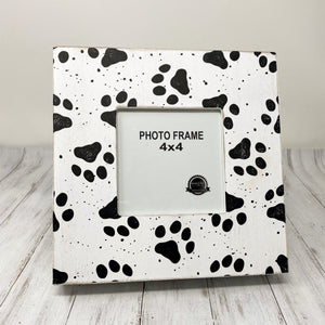 Wood Photo Frame - Paw Prints