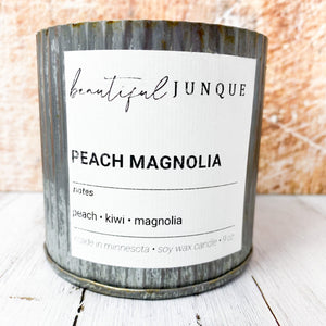 Peach Magnolia Tin Candle