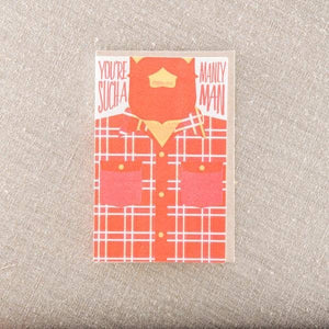 Pike St. Press - Manly Man Flannel Greeting Card