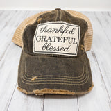 Thankful Grateful Blessed Hat