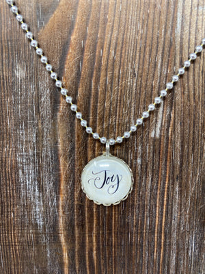 Round Charm Necklace - Joy