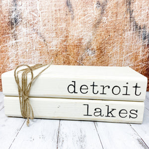 Faux Book Stack - Detroit Lakes, Minnesota (Double)