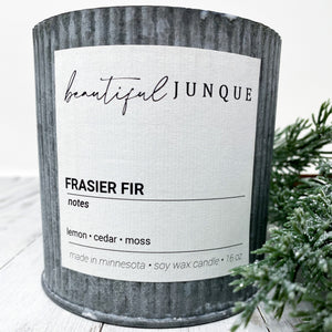 Frasier Fir Tin Candle-Large