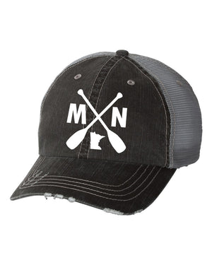 MN with Paddles Embroidered Trucker Hat