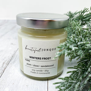 Mini Holiday Candle - Winter's Frost