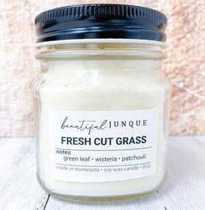 Fresh Cut Grass Candle-8oz