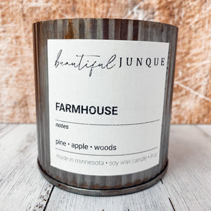 Farmhouse Tin Candle