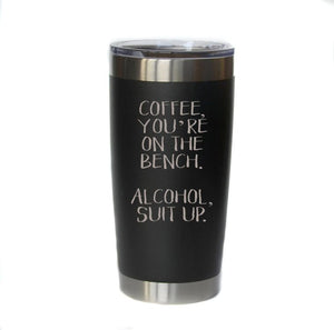 20 oz Suit Up Engraved Mug (Assorted Colors)