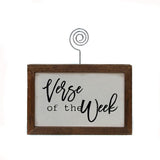 Verse of the Week Wooden Sign