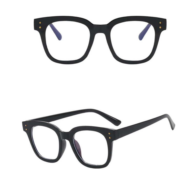 Thick Black Square Blue Light Blocker Glasses