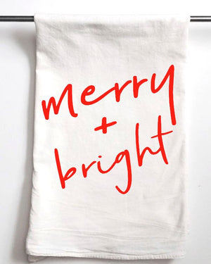 [CHRISTMAS] Merry & Bright Tea Towel