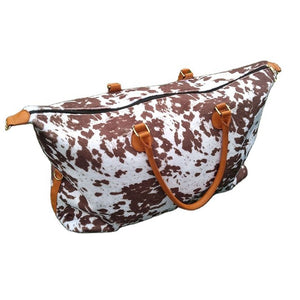 Brindle Cow Print Weekender Bag