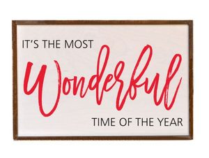 [CHRISTMAS] The Most Wonderful Time of the Year Box Sign