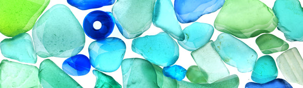 Blue Green Beach Glass