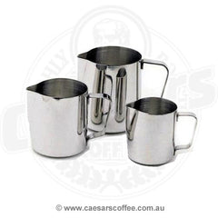 Stainless steel milk frothing jugs 600ml & 1 L