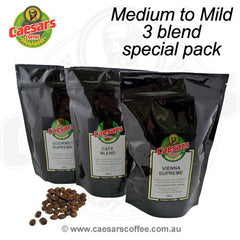 Medium to Mild 3 Blend Special Pack - save 10%