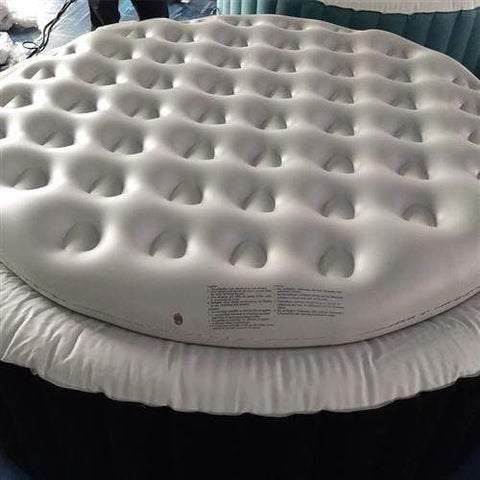 Inflatable Round Insulator Top for 6-Person Inflatable Hot Tub - White - SaunaTown.com