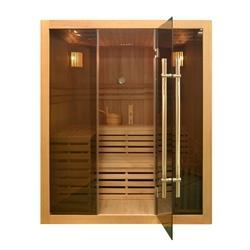 Canadian Hemlock Indoor Wet Dry Sauna - 4.5 kW ETL Certified Heater - 4 Person - SaunaTown.com