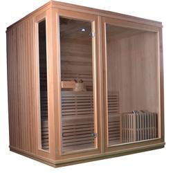 Canadian Hemlock Indoor Wet Dry Sauna - 6 kW ETL Certified Heater - 6 Person - SaunaTown.com