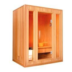 CED3KUPA 3 Person Canadian Red Cedar Wood Indoor Wet Dry Sauna with 3 kW ETL Electrical Heater - SaunaTown.com