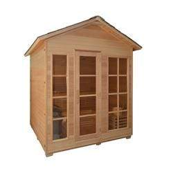 Canadian Hemlock Outdoor and Indoor Wet Dry Sauna - 6 kW ETL Certified Heater - 6 Person - SaunaTown.com