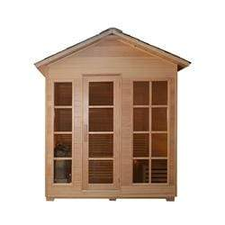 CED6IMATRA 4 Person Canadian Red Cedar Wood Outdoor and Indoor Wet Dry Sauna with 4.5 kW ETL Electrical Heater - SaunaTown.com