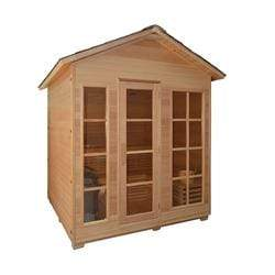 CED6VAASA 6 Person Canadian Red Cedar Outdoor and Indoor Wet Dry Sauna with 6 kW ETL Electrical Heater - SaunaTown.com