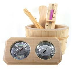 Deluxe Pine Wood Sauna Accessory Kit - 4 Piece - SaunaTown.com