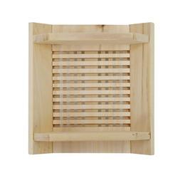 Sauna Lamp Shade in Finish Pine Wood - SaunaTown.com