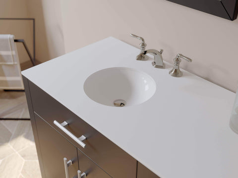 Cambridge Plumbing 72 inch Espresso Wood and Porcelain Double Basin Sink Vanity Set 8162 - SaunaTown.com