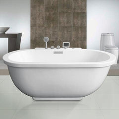 Freestanding Whirlpool Bathtub - Platinum