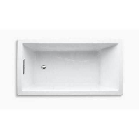 Eviva Teddy Drop-in Acrylic Bathtub 59″ x 31.5″ White (No Drain) - SaunaTown.com