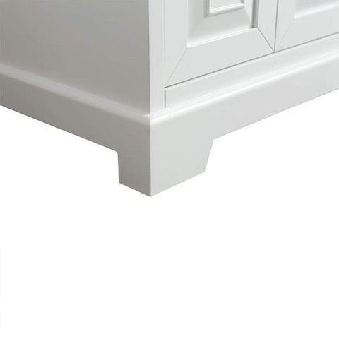 Eviva Monroe 60 in. White Double Bathroom Vanity with White Carrara Marble Top & White Undermount Porcelain Sinks - SaunaTown.com