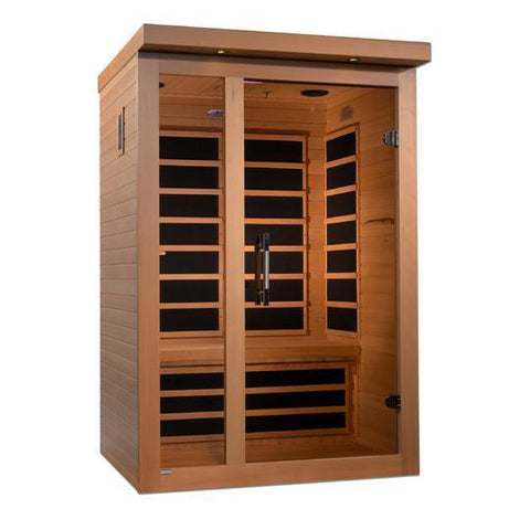 Golden Designs Dynamic Amodora Low EMF Far 2-Person Infrared Sauna DYN-6215-02 - SaunaTown.com