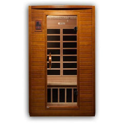 Golden Designs Dynamic Andora Low EMF Far-Infrared 2-Person Sauna DYN-6202-03, Canadian Hemlock - SaunaTown.com