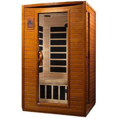 Golden Designs Dynamic Andora Low EMF Far-Infrared 2-Person Sauna DYN-6202-03, Canadian Hemlock