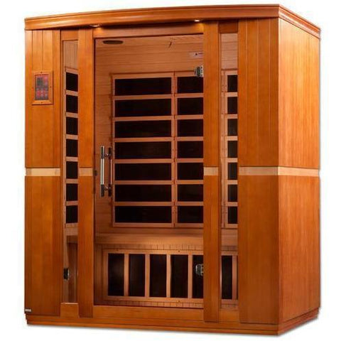 Golden Designs Dynamic Bellagio Low EMF Far 3-Person Infrared Sauna DYN-6306-01 - SaunaTown.com