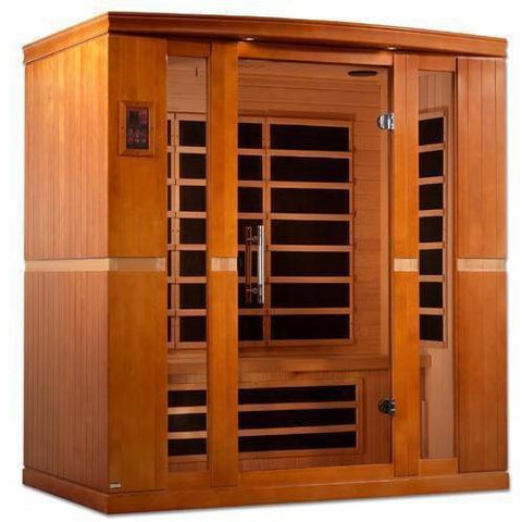 Golden Designs Dynamic Bergamo Low EMF Far 4-Person Infrared Sauna DYN-6440-01 - SaunaTown.com