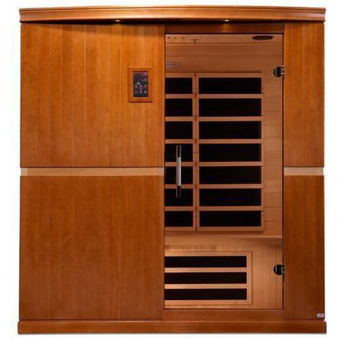 Golden Designs Dynamic Grande Madrid Low EMF Far 4-Person Infrared Sauna DYN-6410-01 - SaunaTown.com