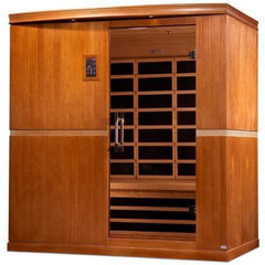 Golden Designs Dynamic Grande Madrid Low EMF Far 4-Person Infrared Sauna DYN-6410-01