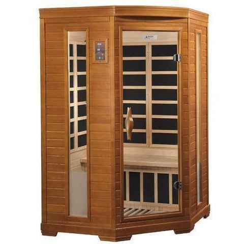 Golden Designs Dynamic Heming Low EMF Far 2-Person Infrared Sauna DYN-6225-02 - SaunaTown.com