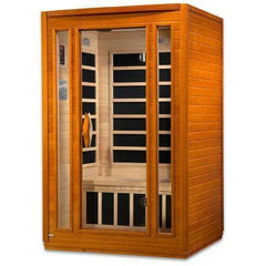 Golden Designs Dynamic Low EMF Far Infrared Two-Person Sauna DYN-6220-01, Vittoria Edition - SaunaTown.com