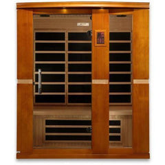 Golden Designs Dynamic Palermo Low EMF Far 3-Person Infrared Sauna DYN-6330-01