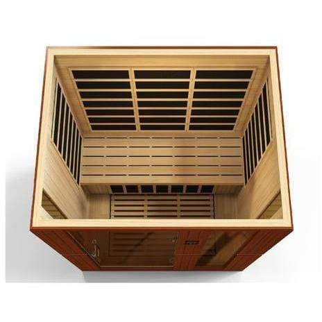 Golden Designs Dynamic Palermo Low EMF Far 3-Person Infrared Sauna DYN-6330-01 - SaunaTown.com