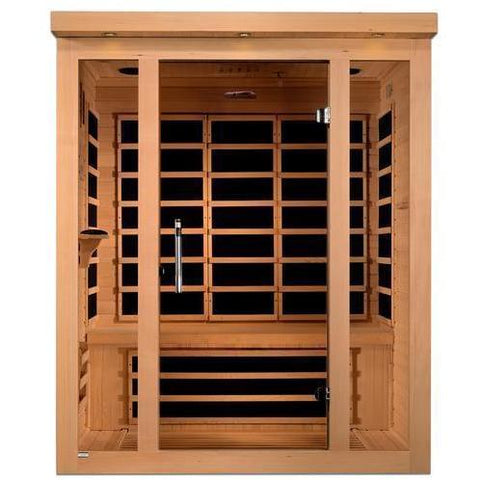 Golden Designs Dynamic Porto Low EMF Far 3-Person Infrared Sauna DYN-6315-02 - SaunaTown.com