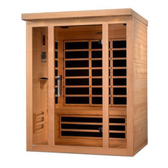 Golden Designs Dynamic Porto Low EMF Far 3-Person Infrared Sauna DYN-6315-02