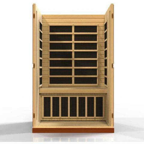 Golden Designs Dynamic Vittoria Low EMF Far 2-Person Infrared Sauna DYN-6220-01 - SaunaTown.com