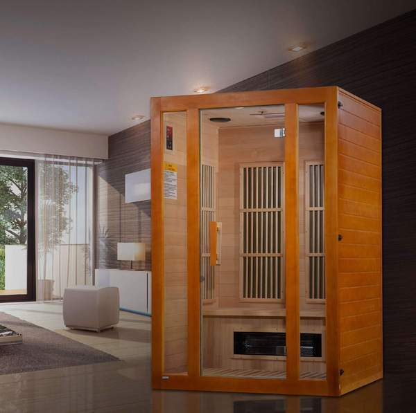 Golden Designs Maxxus Aspen Dual Tech Low EMF FAR 2-Person Infrared Sauna MX-J206-02S - SaunaTown.com