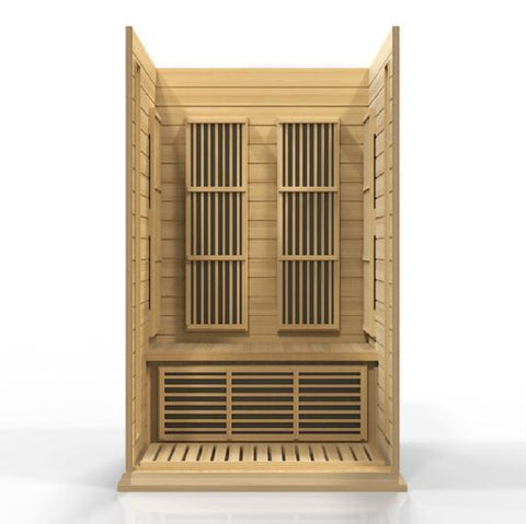 Golden Designs Maxxus Low EMF FAR 2-Person Infrared Sauna MX-K206-01 - SaunaTown.com