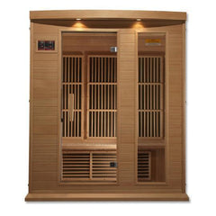 Golden Designs Maxxus Low EMF Far-Infrared 3-Person Sauna MX-K306-01, Canadian Hemlock